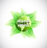 Grüne Erdausgangssüßes Hauptillustrationsdesign Lizenzfreie Stockbilder