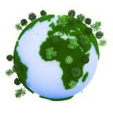 Grüne Erde lizenzfreie abbildung