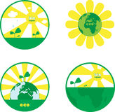 Grüne Erde Lizenzfreies Stockfoto