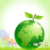 Grüne Erde - außer Umgebung lizenzfreie abbildung