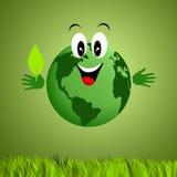 Grüne Erde für die Wiederverwertung lizenzfreie abbildung