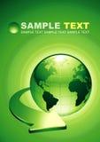 Grüne Erde-Hintergrund Stockfoto