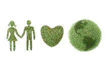 Grüne Erdfamilie Stockbild