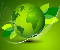 Grüne Erdzusammenfassungszusammensetzung Lizenzfreie Stockfotografie