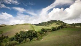 Grüne Europa-Landschaft Azoren Portugal der Natur stockbilder