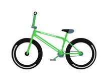 Grüne Fahrradvektorillustration Stockfotos