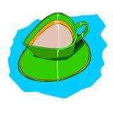 GRÜNE Farbe der Schale Lizenzfreies Stockfoto