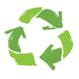Grüne Farbe des Recycling-Symbols Stockbild