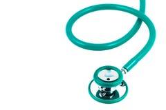 Grüne Farbe des Stethoskops lizenzfreies stockbild