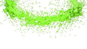 Grüne Farbe, die einen Kreis auf klarem weißem Hintergrund bildet Alpha Matt-, volles hd, CG, 3d übertragen Element von Bewegungs stock abbildung