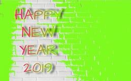 Grüne Farben spritzen auf Beschaffenheitsbacksteinmauer, für dekoratives Netz und grafischer abstrakter Hintergrund, feiern neues stockfotos
