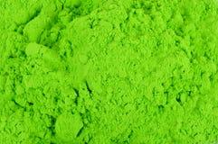 Grüne Farbepulver stockfoto