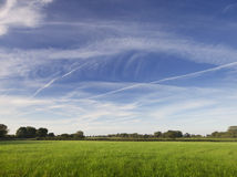grüne Felder Lizenzfreies Stockfoto