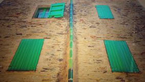 Grüne Fenster Stockfoto
