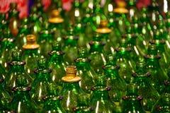 Grüne Flaschen Lizenzfreies Stockbild