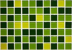 Grüne Fliesen Stockfoto