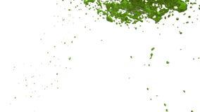 Grüne Flussflüssigkeit wie Saft bewegt sich in Zeitlupe 3d übertragen flüssige CG-Zeitlupe mit Alpha Matt-, vollem hd simuliert lizenzfreie abbildung