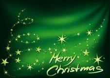 Grüne frohe Weihnachten lizenzfreie abbildung