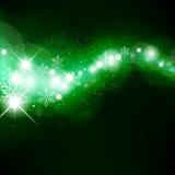 Grüne funkelnde Welle Stockfoto