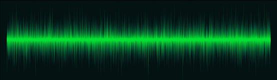 Grüne Funkwellen Stockbild