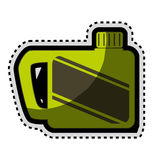 Grüne Gallone lokalisierte Ikone lizenzfreie abbildung