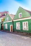 Grüne Gebäude - Trebon, Tschechische Republik, Europa Lizenzfreies Stockbild