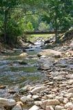 Grüne Gebirgsbrücke Stockfoto