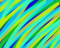 Gr?ne gelbe blaue diagonale Linien des Zusammenfassungshintergrundes lizenzfreie abbildung