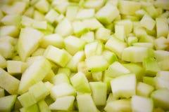 Grüne, gelbe Lebensmittelhintergrundbeschaffenheit auf Zucchini, Zucchini Inc. stockbild