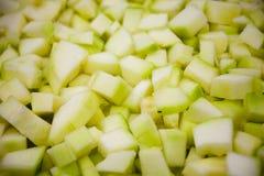 Grüne, gelbe Lebensmittelhintergrundbeschaffenheit auf Zucchini, Zucchini Inc. stockfotos