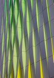 Grüne, gelbe und silberne Kurven des Universitätskrankenhauses in GR Stockbilder