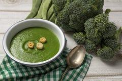 Grüne Gemüsesahnesuppe Lizenzfreie Stockfotos