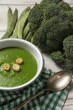 Grüne Gemüsesahnesuppe Lizenzfreies Stockfoto