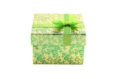 Grüne Geschenkbox Stockfotos