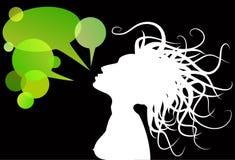 Grüne Gesprächskästen Stockbilder