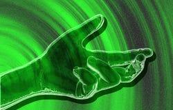 Grüne Geste. Stockfoto