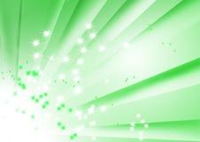 grüne gestreifte Auslegung mit der Sprengung der Sterne Stockfoto