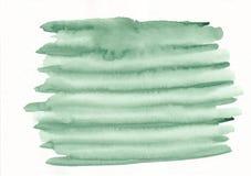 Grüne gestreifte der Aquarell-Steigung des Zebras horizontale gezeichneter Hintergrund Hand Stockfotografie