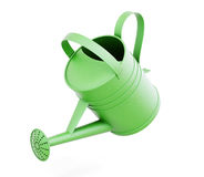 Grüne Gießkanne auf weißem Hintergrund 3d übertragen image Stockfoto