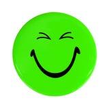 Grüne glückliche Gesichtstaste Lizenzfreies Stockbild