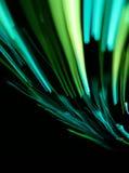 Grüne glühende Zeilen Stockfotografie