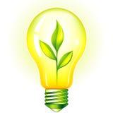 Grüne Glühlampe stock abbildung