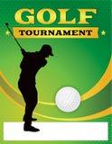 Grüne Golf-Turnier-Flieger-Illustration lizenzfreie abbildung