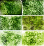 Grüne Grungy Hintergründe Stockfoto