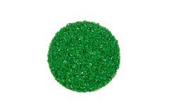 Grüne Gummibodenprobe Stockfotos