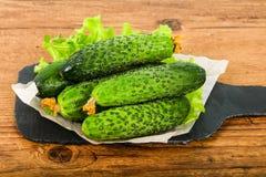 Grüne Gurken Stockfoto