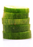 Grüne Gurkescheiben Stockfotografie