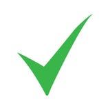 Grüne Häkchenikone Zeckensymbol in der grünen Farbe Auch im corel abgehobenen Betrag vektor abbildung
