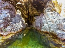 Grüne Höhle Stockbild