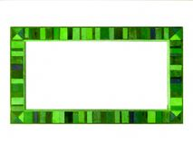 grüne hölzerne Grenze der Spiegelweinleseart Stockfoto
